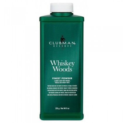 "Clubman ""Whiskey Woods"" - Púder po Holení"