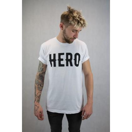 HERO MERCH - Tričko Hero Biele