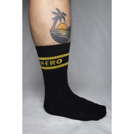 "HERO ""Original Logo - Black and Yellow"" ponožky"